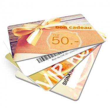 cartes en PVC (robustes et imperméables)